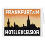 Vintage Frankfurt Germany Hotel Greeting Cards