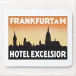 Vintage Frankfurt Germany Hotel Mouse Pad