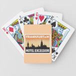 Vintage Frankfurt Germany Hotel Poker Deck