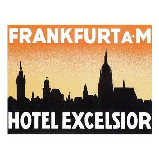 Vintage Frankfurt Germany Hotel Postcard