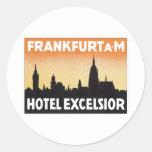 Vintage Frankfurt Germany Hotel Sticker