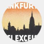 Vintage Frankfurt Germany Hotel Classic Round Sticker