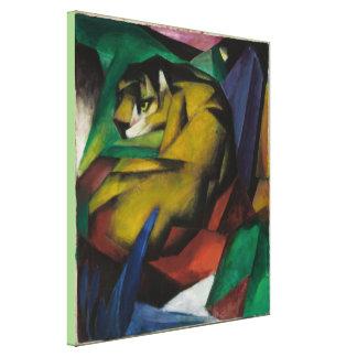 Vintage Franz Marc The Tiger Canvas Print