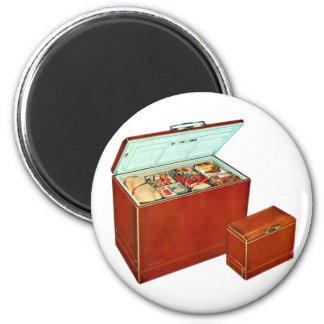 Vintage Freezer Appliances Fridge 6 Cm Round Magnet