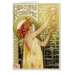 Vintage French Absinthe Advertisement Greeting Card