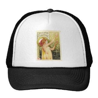 Vintage French Absinthe Advertisement Mesh Hat