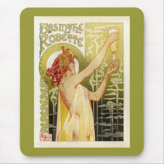 Vintage French Absinthe Advertisement Mouse Pad