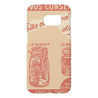 Vintage French Ad for Mason Jars