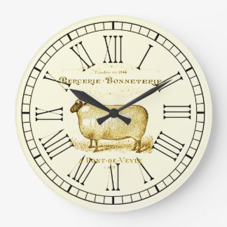 Vintage French Advertisement Sheep Clock