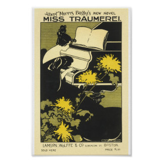Vintage French Advertising Bagby Miss Traumeri Poster