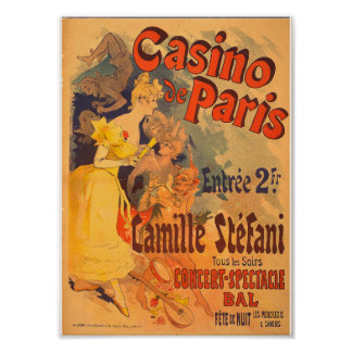 Vintage French Advertising Casino de Paris 1891 Poster