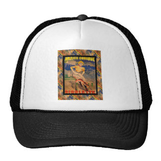 Vintage French advertising Mesh Hats