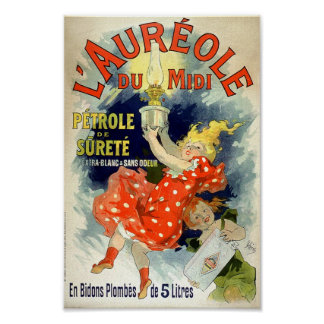 Vintage French Advertising L' Aureole Du Midi 1893 Poster