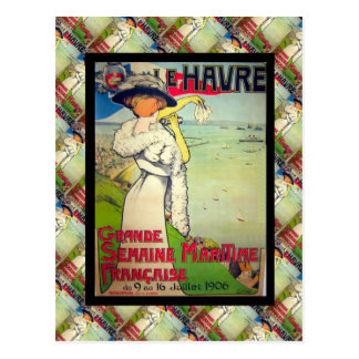 Vintage French advertising, Le Havre Postcard