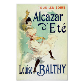 Vintage French Advertising Louise Balthy Poster