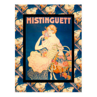 Vintage French advertising, Mistinguett Postcard