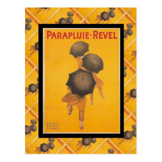 Vintage French advertising, Parapluie Revel Postcard