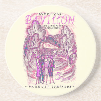 Vintage French Advertising Poster Coaster