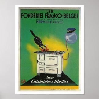 Vintage French advertising stove Kitchen decor