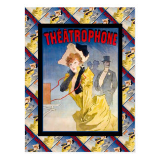 Vintage French advertising, Theatrephone Postcard
