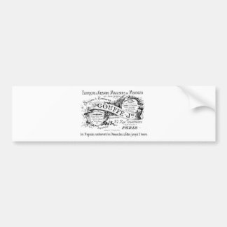 vintage french advertising typography bumper sticker