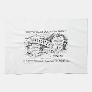 vintage french advertising typography kitchen towels