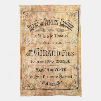 Vintage French beauty label Tea Towel