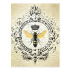 Vintage French bee postcard