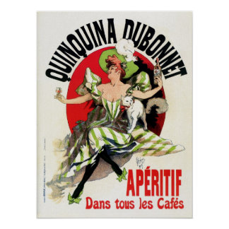 Vintage French belle epoque apéritif ad Poster