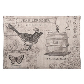 Vintage French Bird placemat