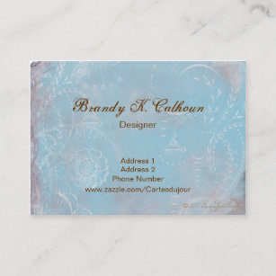 Vintage french business cards zazzle au vintage french blue toile business cards reheart Image collections