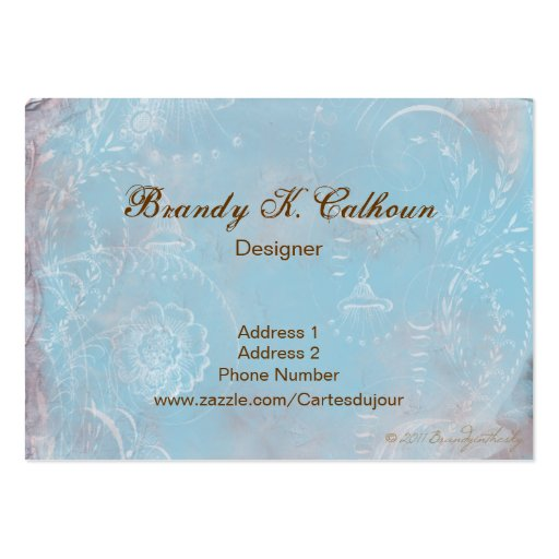 Vintage French Blue Toile Business Cards