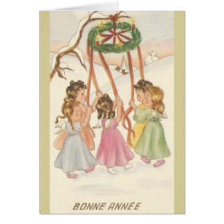 Vintage French Bonne Année New Year Card