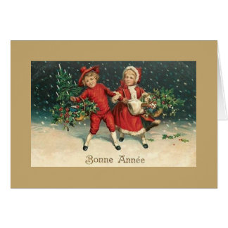 Vintage French Bonne Année New Year Greeting Card