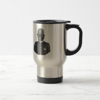 Vintage French Bulldog Policeman Travel Mug