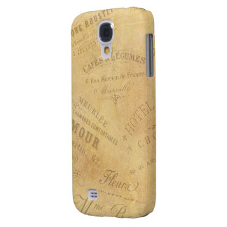 Vintage French Business Logos Galaxy S4 Cover