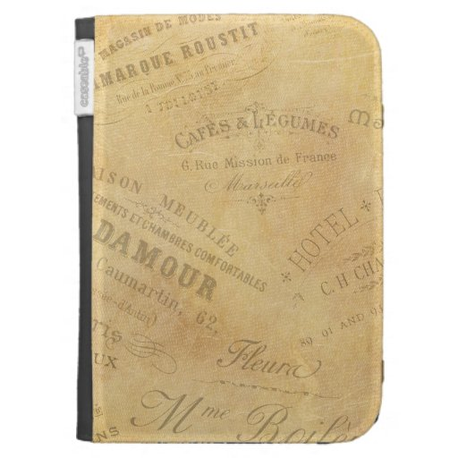 Vintage French Business Signs Case For Kindle