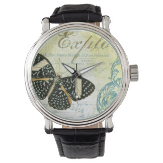 Vintage French butterfly watch