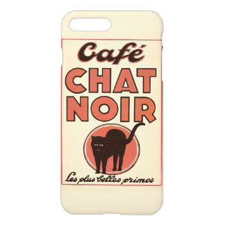 "Vintage french ""Café chat noir"" iPhone 8 Plus/7 Plus Case"