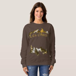 Vintage French Cats Les Chats Art Sweatshirt