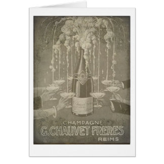 Vintage French Champagne Celebrate Card