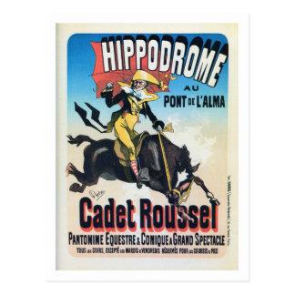 Vintage French Chéret Paris hippodrome ad Postcard