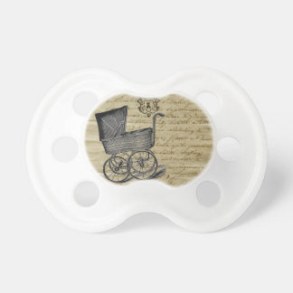 Vintage French Chic Baby Carriage Pacifier