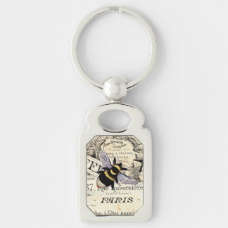 Vintage French Chic Bumble Bee art Key Chains