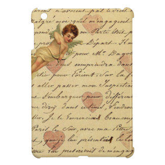 Vintage French Chic Cupid Hearts Love Letter iPad Mini Cases