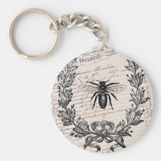 Vintage French Chic Honey Bee Key Chain