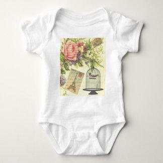 Vintage French Chic Victorian Birdcage Baby Bodysuit