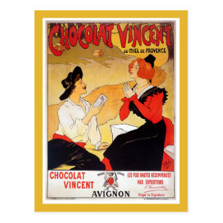 Vintage French chocolate advertising Postcard