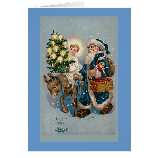 """Vintage French Christmas Card"""