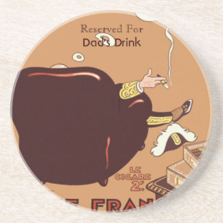 Vintage French Cigar Poster Ad Label  Custom Drink Coasters
